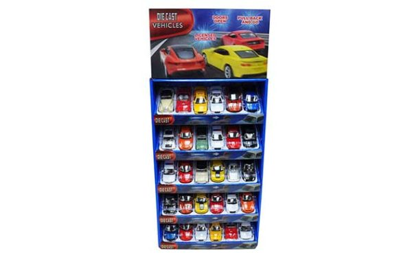 Licensed Die Cast 30 Piece Display