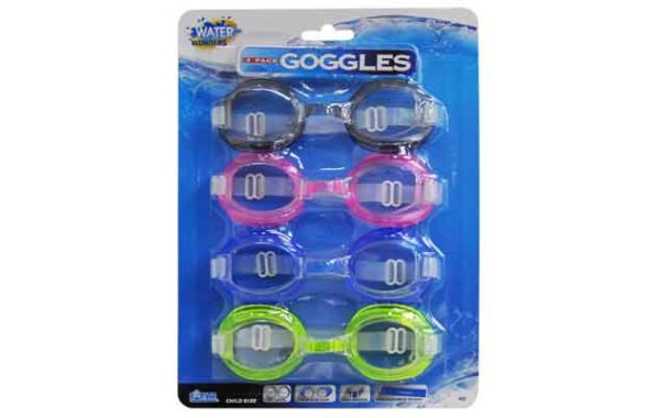 4 Pack Goggles with PVC Gasket & Silicone Strap