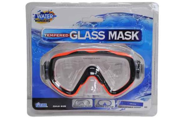 Child Tempered Glass Mask with Silicone Skirt