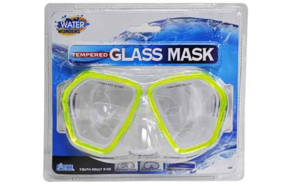 Adult Tempered Glass Mask with Silicone Skirt