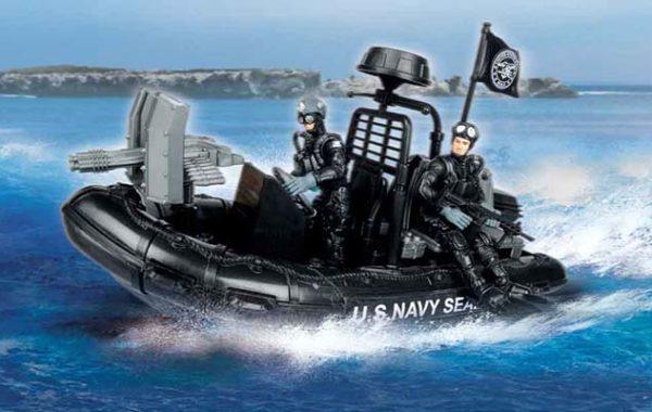 U.S. Navy Seals Combat Rubber Raiding Craft