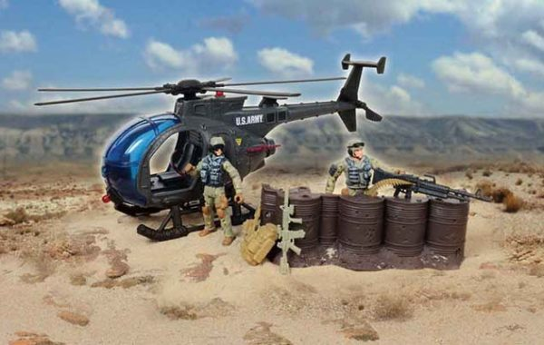 U.S. Army Chopper Playset with 2 Soldier Set