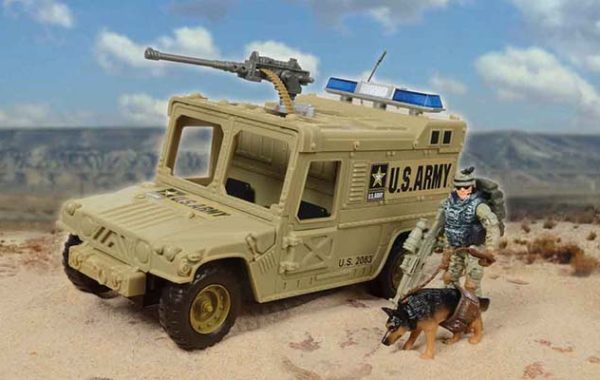 U.S. Army Vehicle Playset with Soldier & Guard Dog