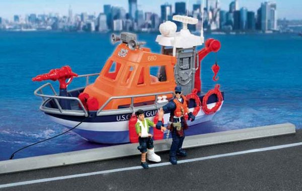 U.S. Coast Guard Rescue Boat Playset