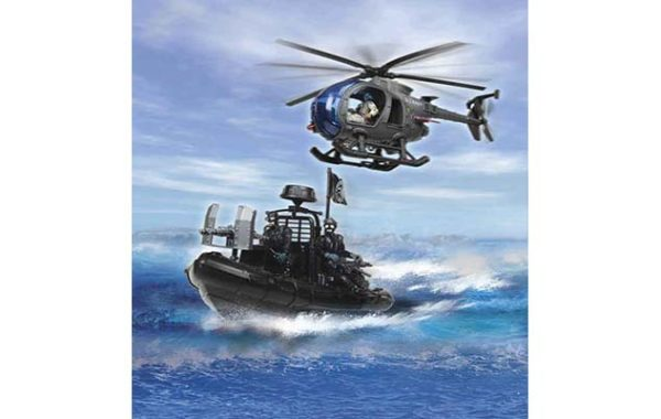 U.S. Navy Seals Helicopter Speedboat Playset