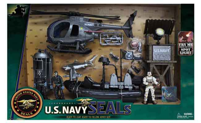 Navy Seals United States Speedboat Playset with 2 Action Figures and Weapons Set
