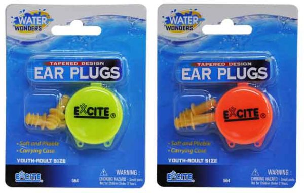 Tapered Ear Plugs w/Case