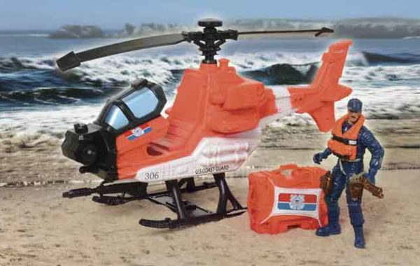 U.S. Coast Guard Helicopter Playset