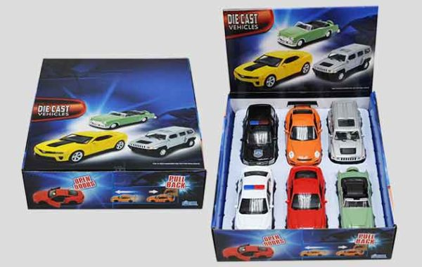 Licensed Die Cast 6 Piece Display