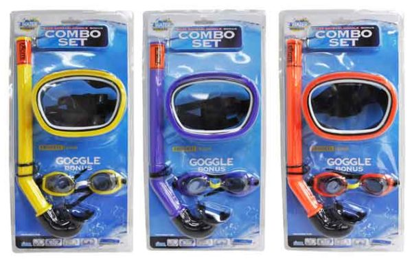 Mask-Snorkel-Goggle Bonus Combo Set