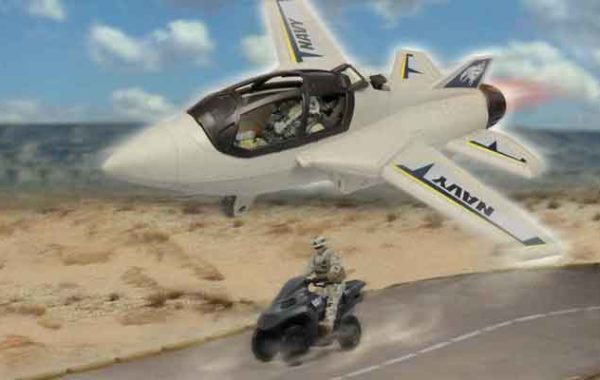 U.S. Navy Jet and Motorcycle Playset