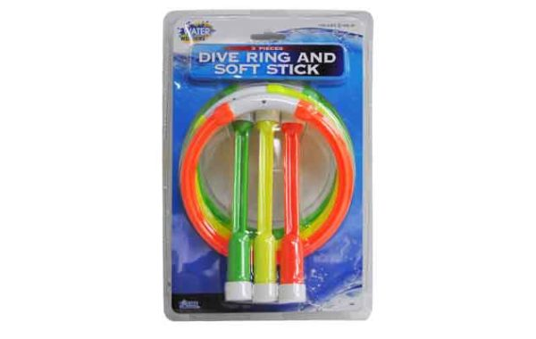 3 Pcs Dive Ring and 3 Pcs Soft Dive Stick